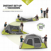 Core Equipment 6 Person Instant Cabin Tent Set Up
