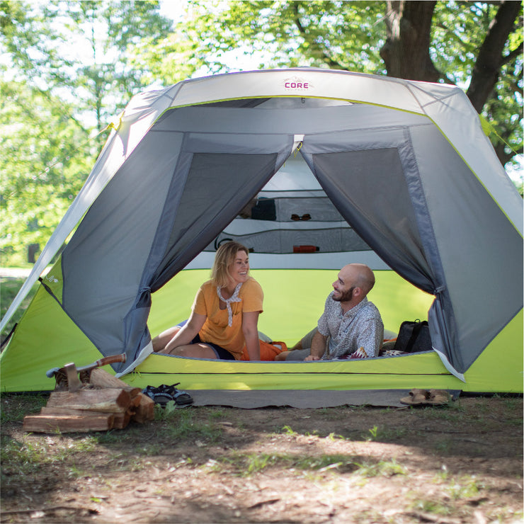 Sports & Outdoors CORE 6 Person Instant Cabin Tent with