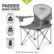 CORE Padded Quad Chair specs
