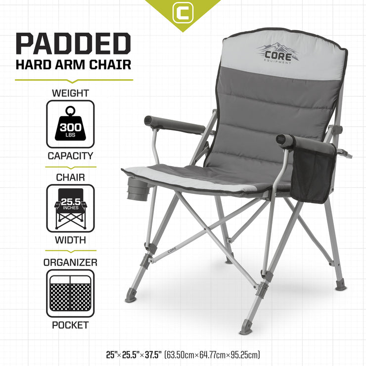 CORE Padded Hard Arm Chair specs