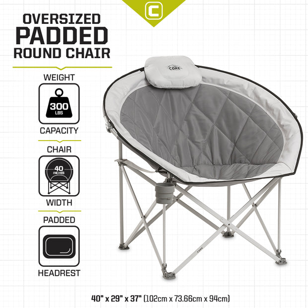 Core Equipment Cozy Round Chair Tech Spec