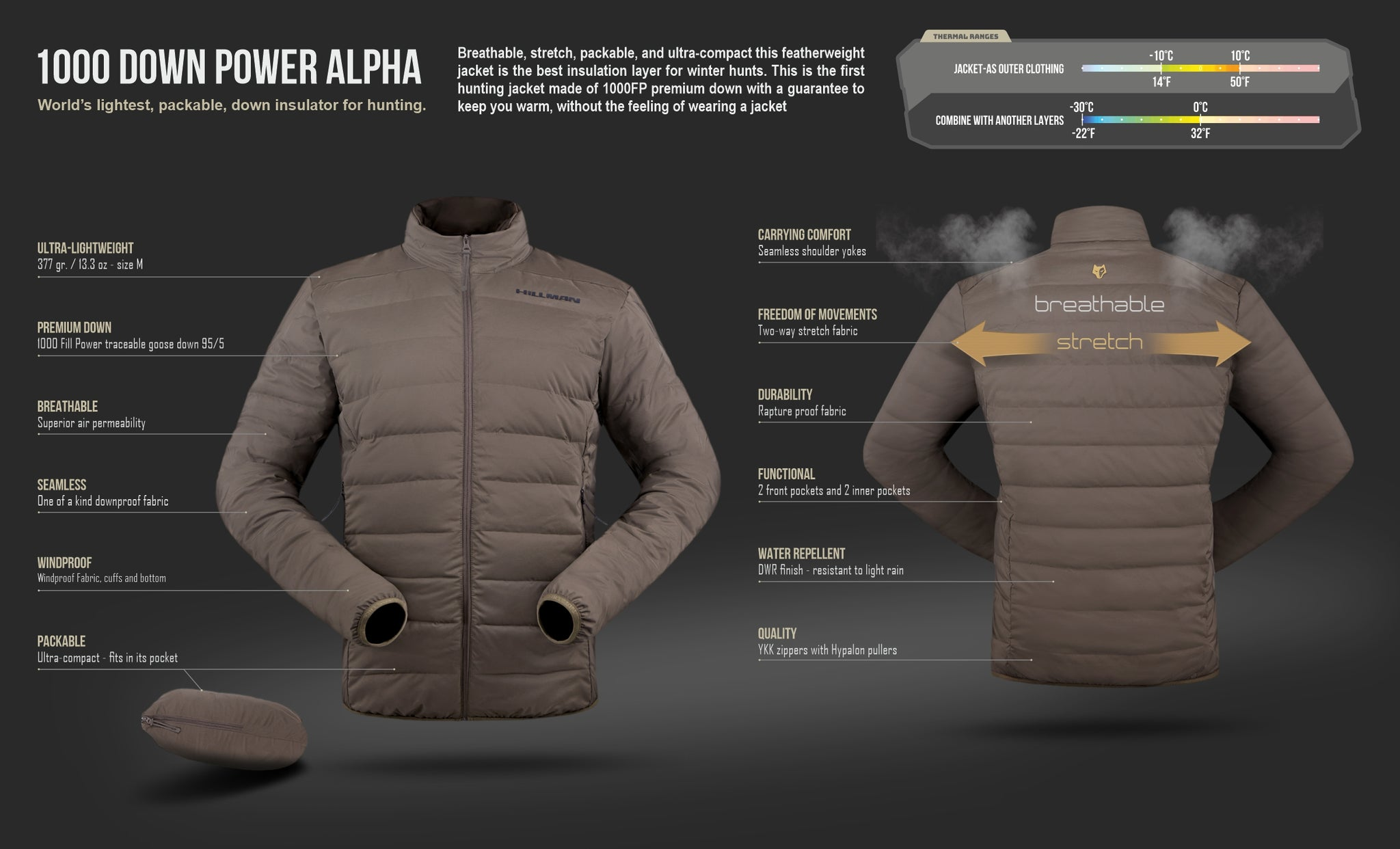 packable down jacket the worlds lightest hunting insulation midlayer