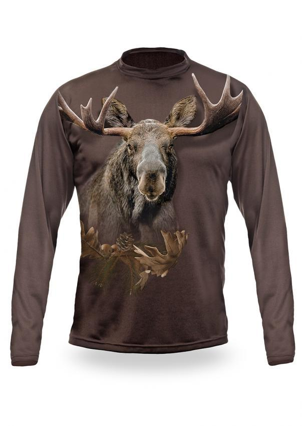 Shirts-Moose 3D T-Shirt Long Sleeve - 3012-Hillman-Hunting-Shop