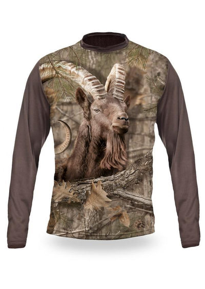Shirts-Ibex 3D T-Shirt Long Sleeve - 3011-Hillman-Hunting-Shop
