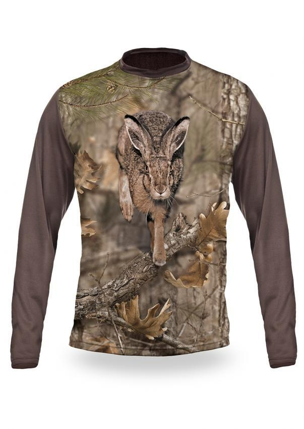 Shirts-Hare 3D T-Shirt Long Sleeve - 3013-Hillman-Hunting-Shop