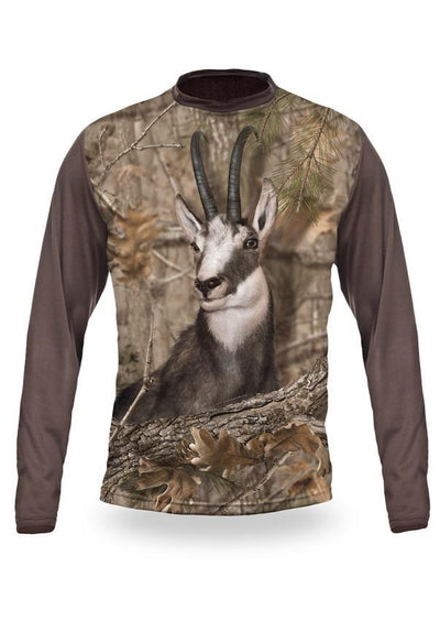 Shirts-CHAMOIS 3D T-Shirt Long Sleeve - 3010-Hillman-Hunting-Shop