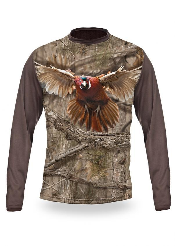 Shirts-PHEASANT 3D T-Shirt Long Sleeve - 3009-Hillman-Hunting-Shop