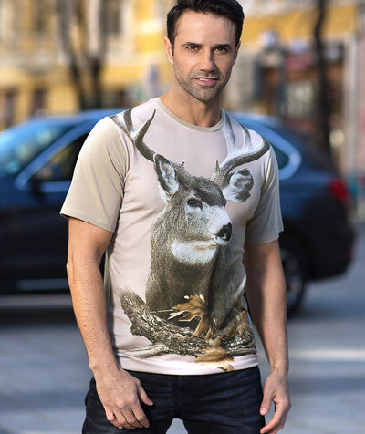Man with Mule Deer T-shirt
