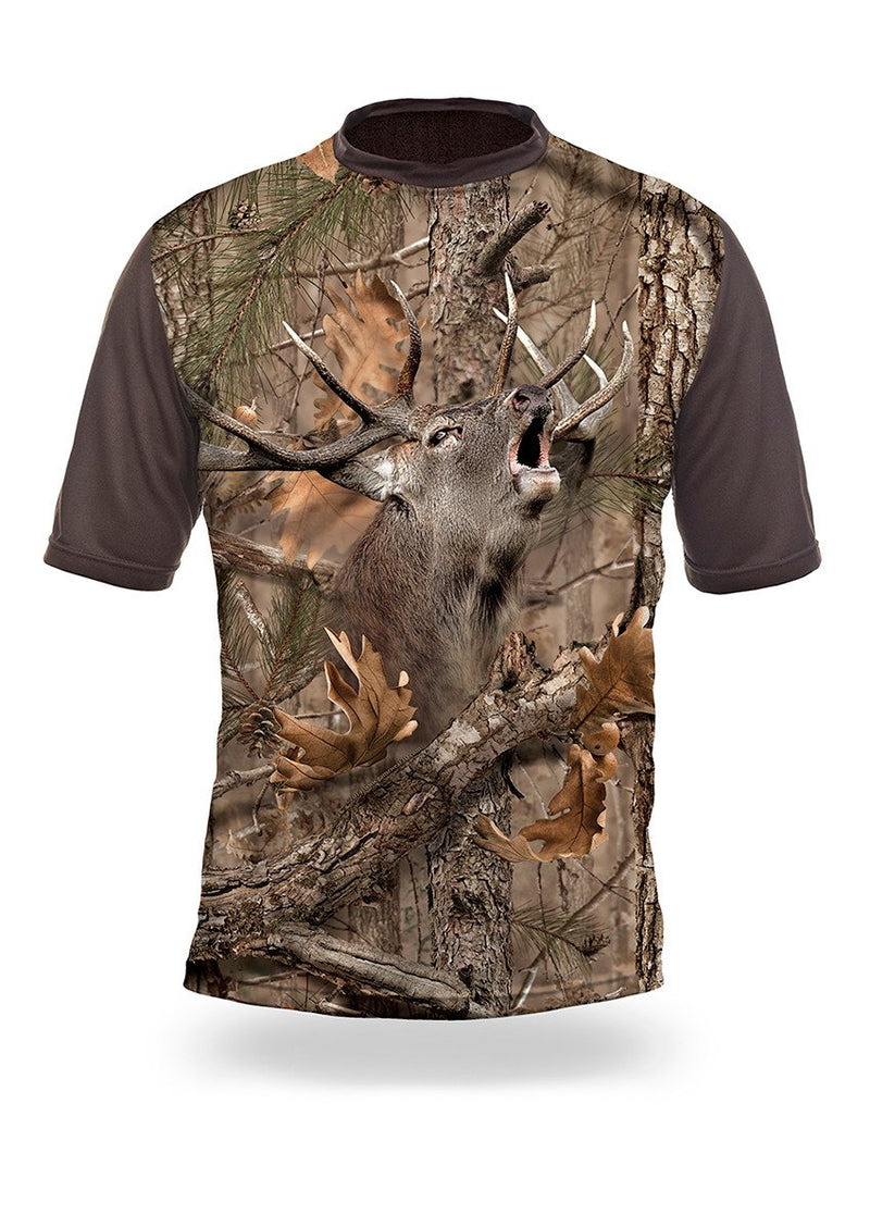 Shirts-Elk 3D T-Shirt Short Sleeve - 1001-Hillman-Hunting-Shop