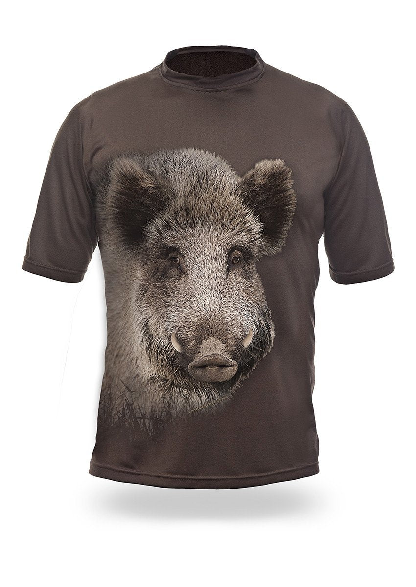 Shirts-Wild Boar 3D T-Shirt Short Sleeve - 1002-Hillman-Hunting-Shop