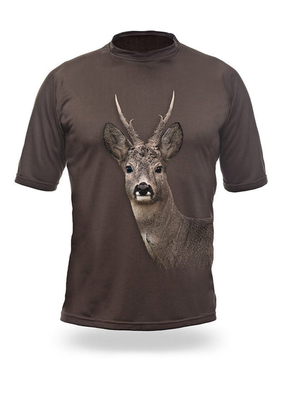 Shirts-Roe Deer 3D T-Shirt Short Sleeve - 1003-Hillman-Hunting-Shop
