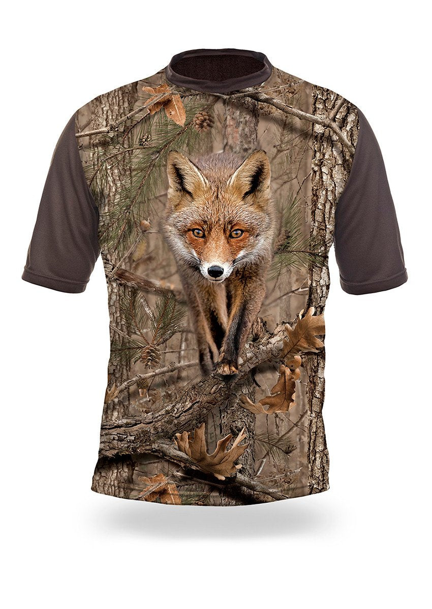 Shirts-Fox 3D T-Shirt Short Sleeve - 1005-Hillman-Hunting-Shop
