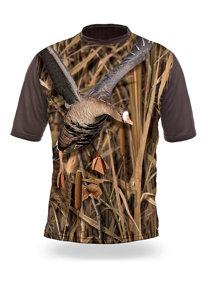 Shirts-White Fronted Goose 3D T-Shirt Short Sleeve - 1007-Hillman-Hunting-Shop