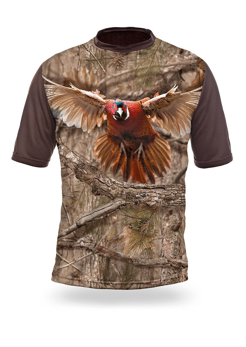 Shirts-Pheasant 3D T-Shirt Short Sleeve - 1009-Hillman-Hunting-Shop