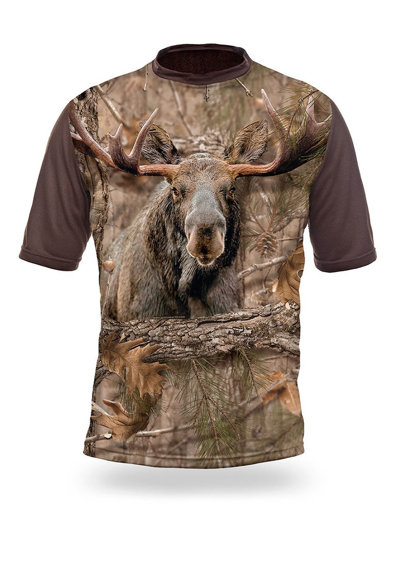 Shirts-Moose 3D T-Shirt Short Sleeve - 1012-Hillman-Hunting-Shop