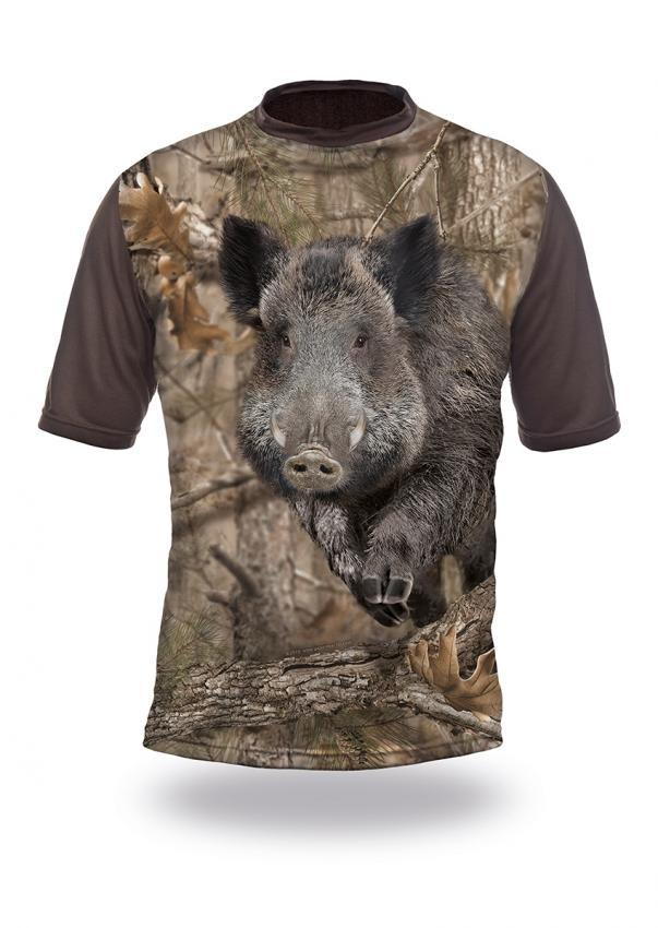 Wild Boar Runs 3D T-Shirt - Short Sleeve