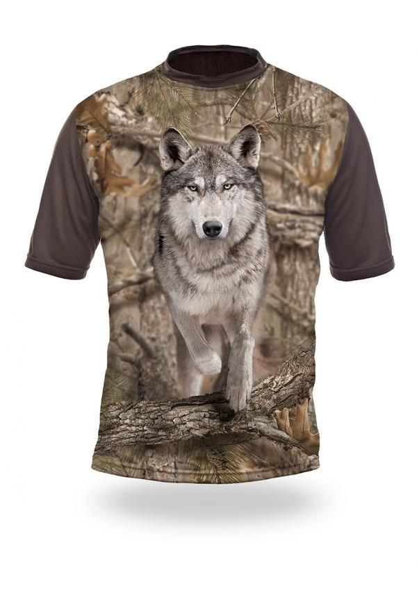 Shirts-Wolf Runs 3D T-Shirt Short Sleeve - 1015-Hillman-Hunting-Shop