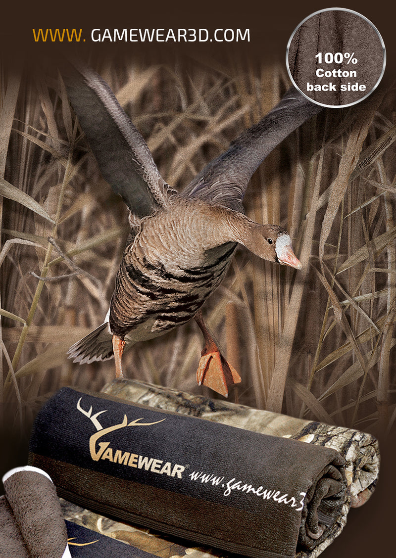 30x50cm Towel White Fronted Goose | Hillman Hunting
