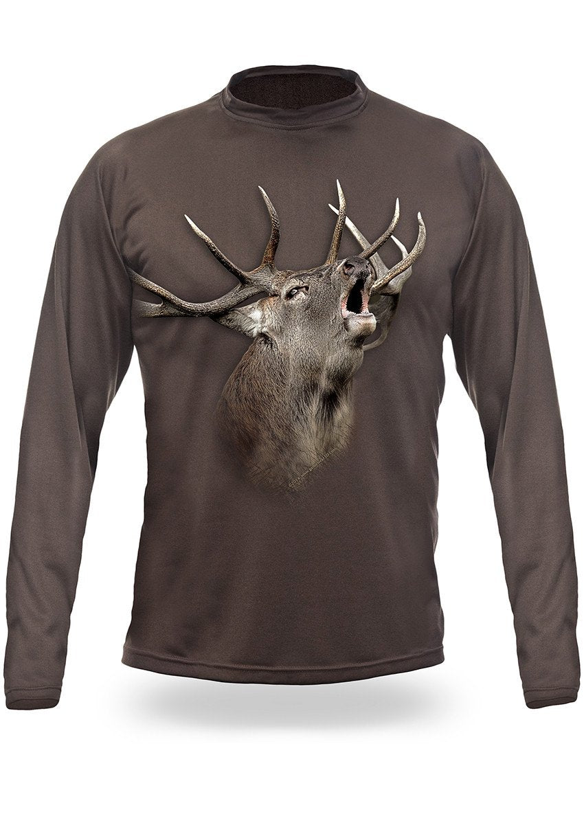 Elk | Red Deer 3D T-Shirt - Long Sleeve