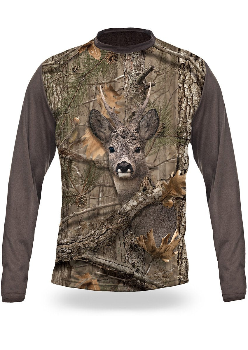 Shirts-Roe Deer 3D T-Shirt Long Sleeve - 3003-Hillman-Hunting-Shop