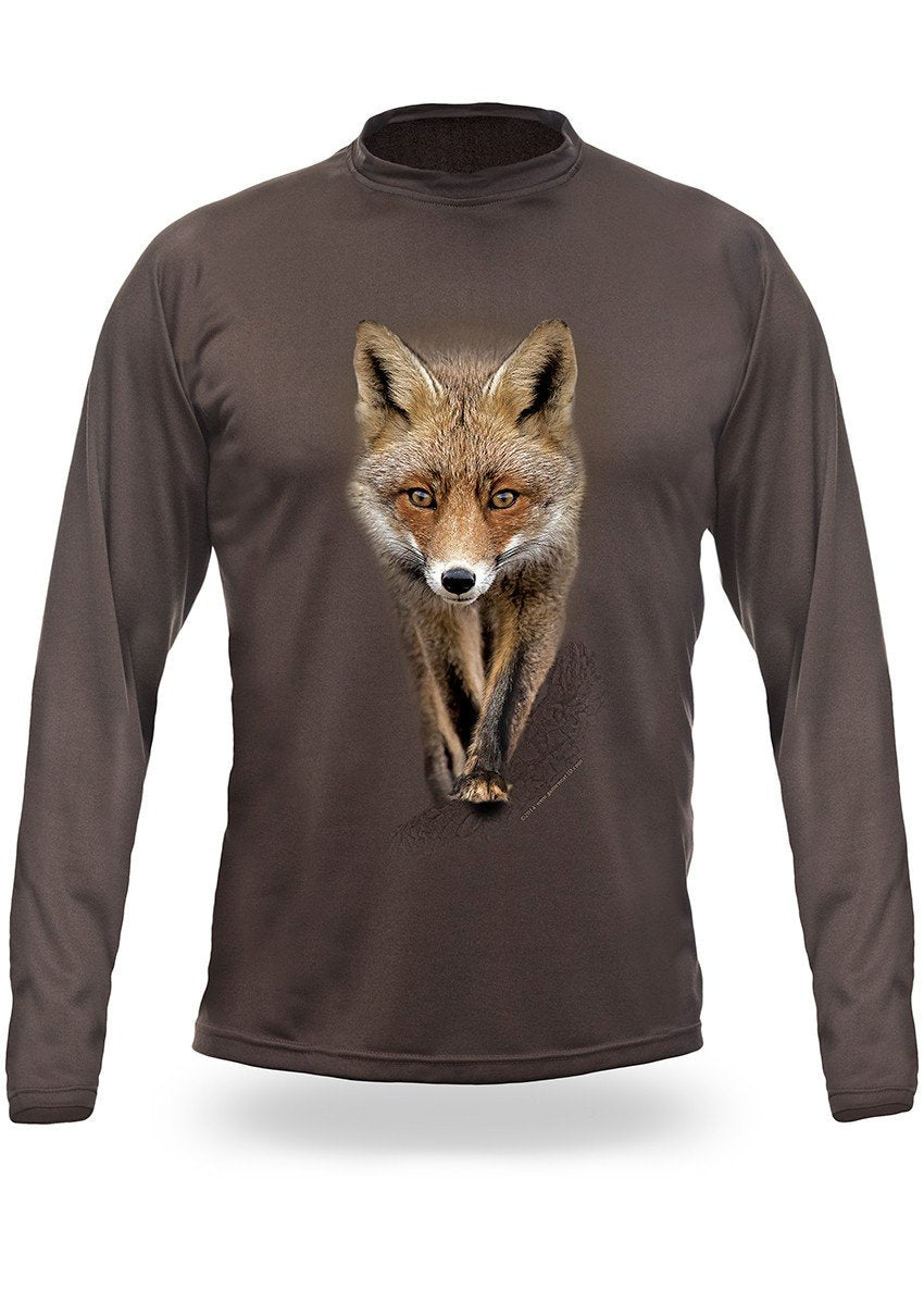 Shirts-Fox 3D T-Shirt Long Sleeve - 3005-Hillman-Hunting-Shop