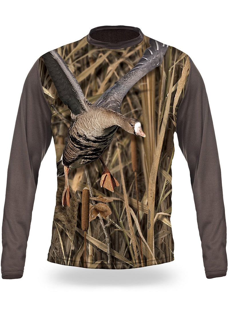 Shirts-White Fronted Goose 3D T-Shirt Long Sleeve - 3007-Hillman-Hunting-Shop