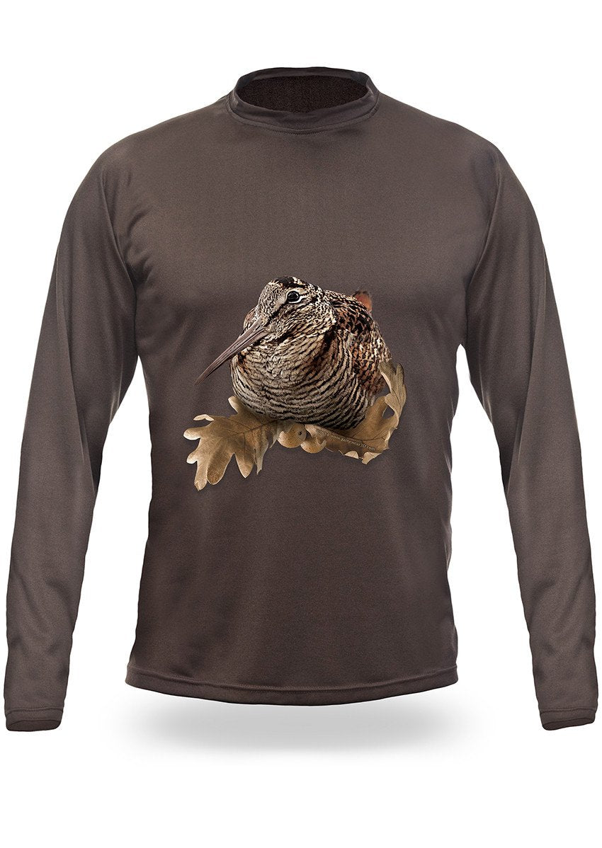 Shirts-Woodcock 3D T-Shirt Long Sleeve - 3008-Hillman-Hunting-Shop