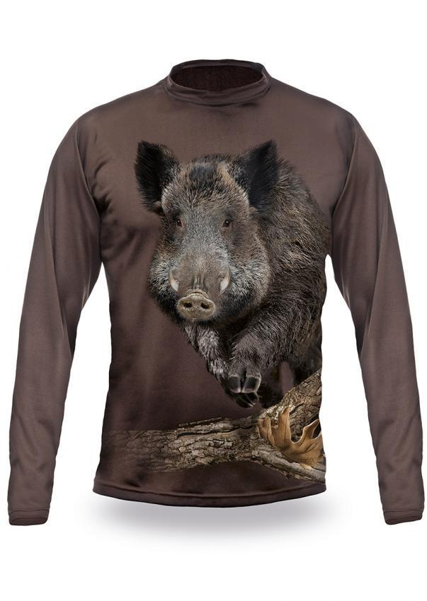 Wild Boar Runs T-Shirt - Long Sleeve