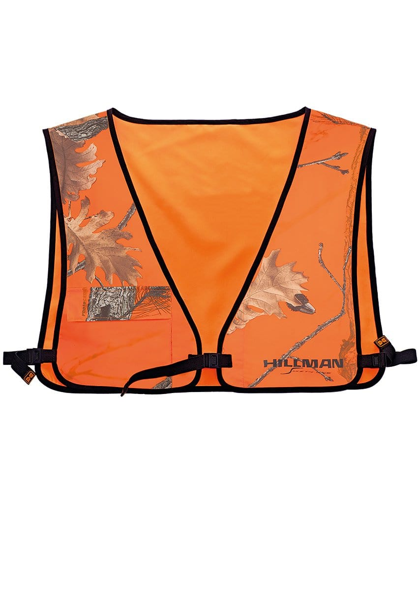 Signal Camo Pocket Hunting Vest - Hillman® Safety Hunting Apparel