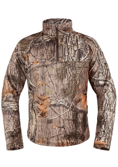 Mens Winter Camo XPR Hunting Polofleece Top - Hillman® Winter Camo Gear
