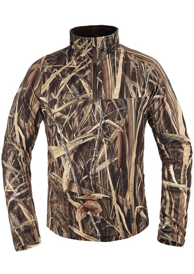 Mens Waterfowl Camo XPR Hunting Polofleece Sweater - Hillman® Camouflage Winter Clothing