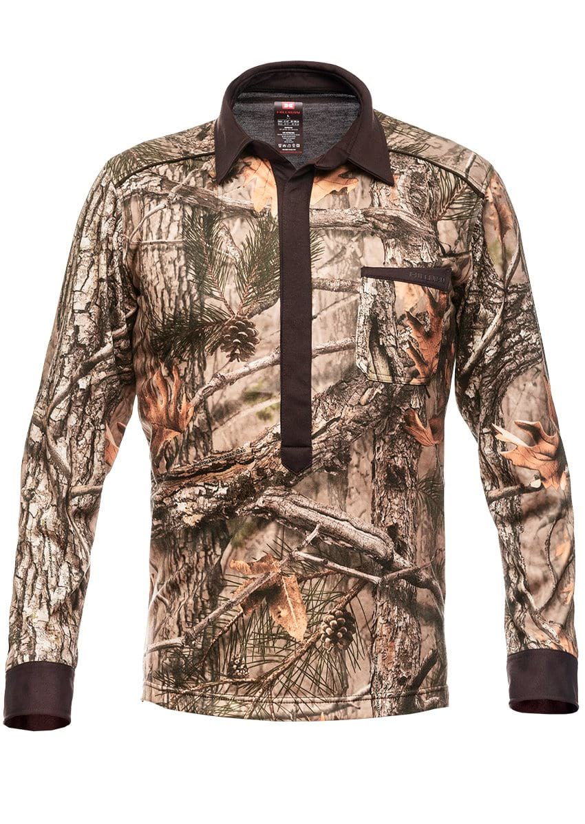 Camouflage Hunting Stretchshirt Magnetic Long Sleeve - Hillman Hunting Shirts