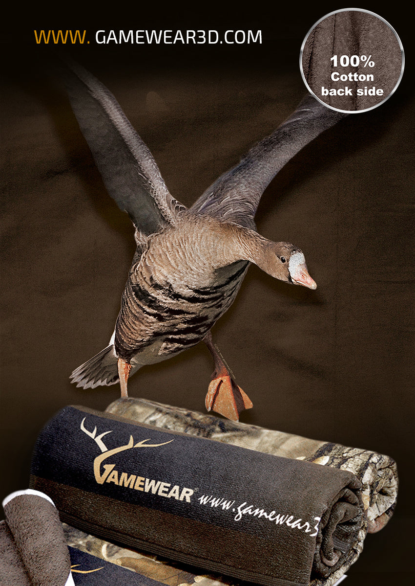 70x140cm Towel White Fronted Goose | Hillman Hunting