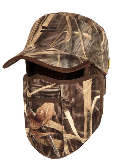 Waterfowl Camo Waterproof Hunting Hat Mask - Camouflage Bird Hunting Gear for Men by Hillman®