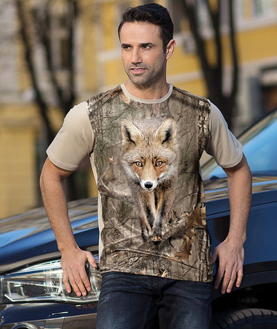 Man with Red Fox T-shirt camo