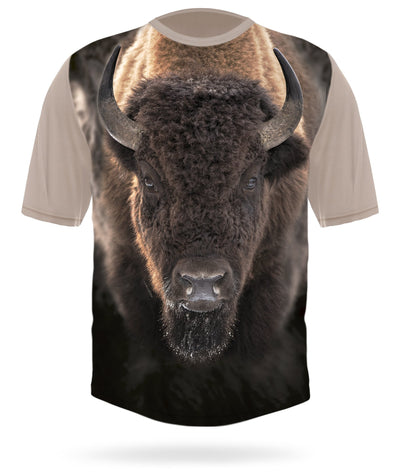 Bison T-shirt Short Sleeve by HILLMAN