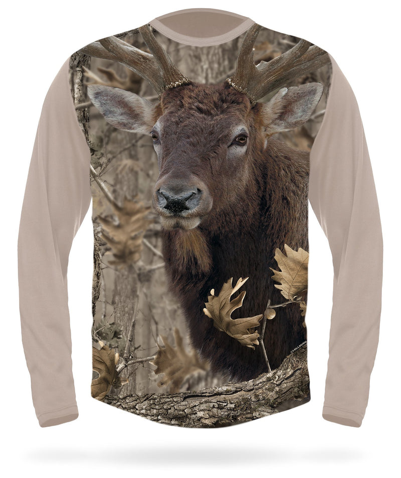 Rocky Mountain Elk T-shirt Long Sleeve - by HILLMAN® hunting gear