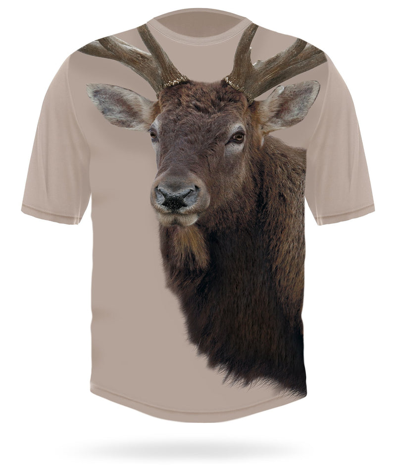 Rocky Mountain Elk T-shirt Short Sleeve Camo by HILLMAN®