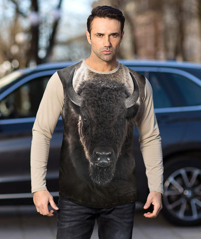 Man with Bison t-shirt
