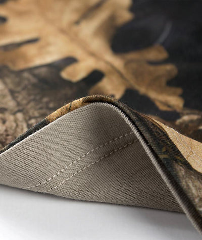 detail of bottom of Hillman camouflage t-shirt