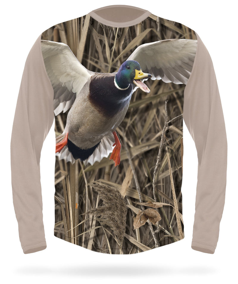 Drake Mallard Duck Calling T-Shirt - Long Sleeve