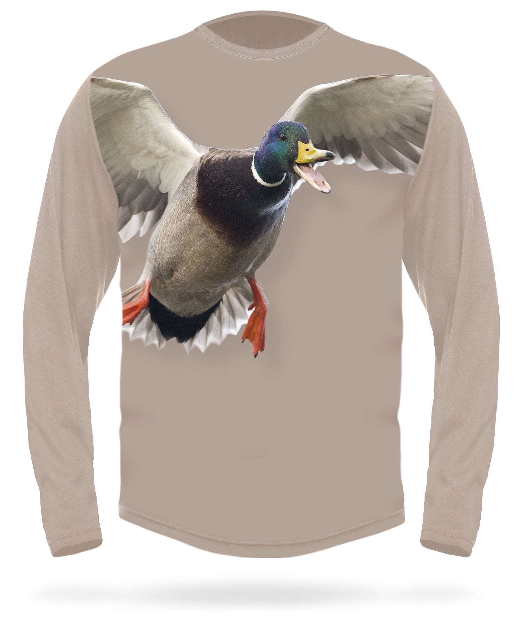 Mallard T-shirt - Calling Long Sleeve - HILLMAN® hunting gear