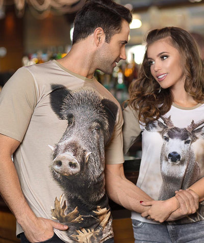 Man with Wild Boar T-shirt