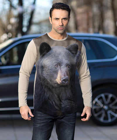 Man with Black Bear t-shirt