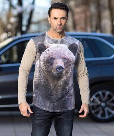 Man with Grizzly T-shirt