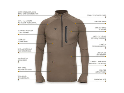 [16μm-230g] MERINO THERMO TOP [ 1-2 ]