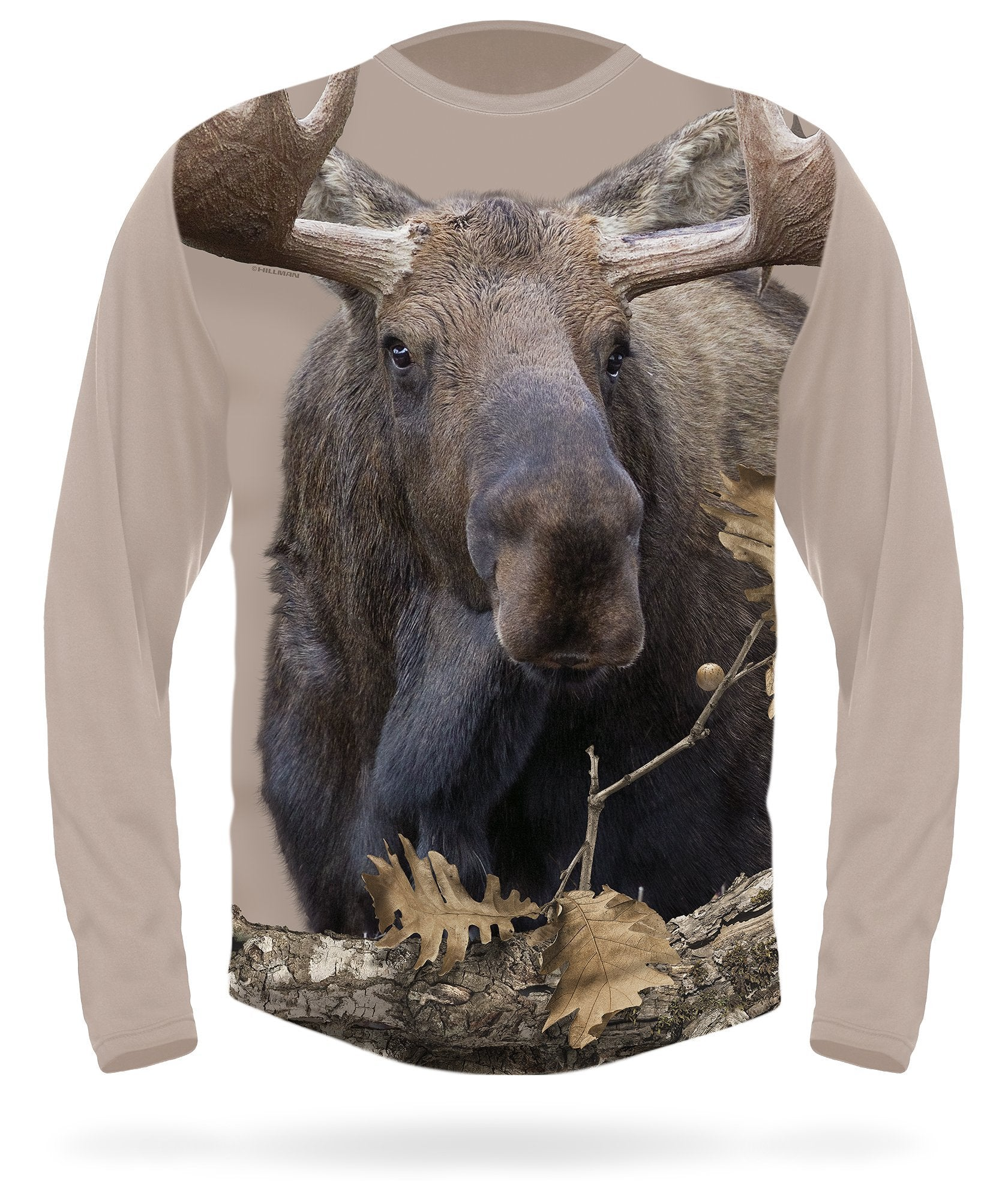 Moose T-shirt Long Sleeve - HILLMAN® hunting gear