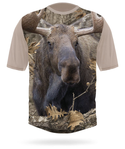 Moose T-shirt Short Sleeve Camo - HILLMAN® hunting gear