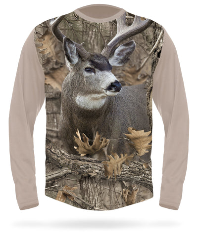 Mule Deer T-shirt Long Sleeve Camo - HILLMAN® hunting gear
