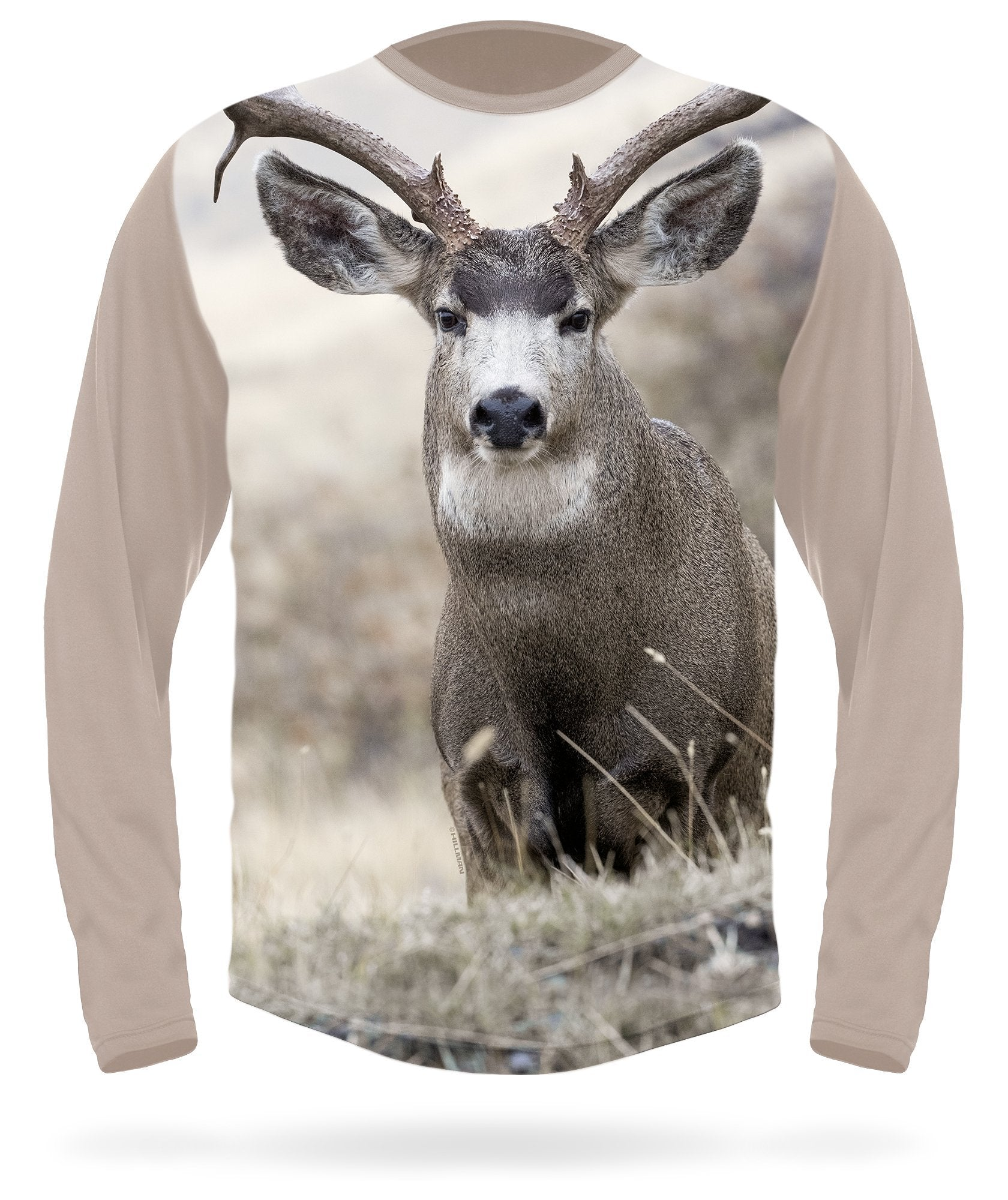 Mule deer T-shirt Field Scene Long Sleeve - HILLMAN® hunting gear